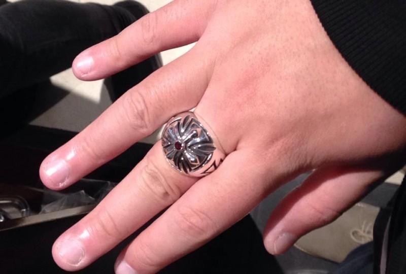 Silverwow Iron Cross Ring