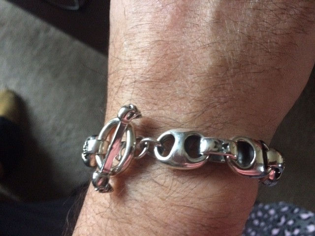 Iron Cross T-Bone Mens Bracelet