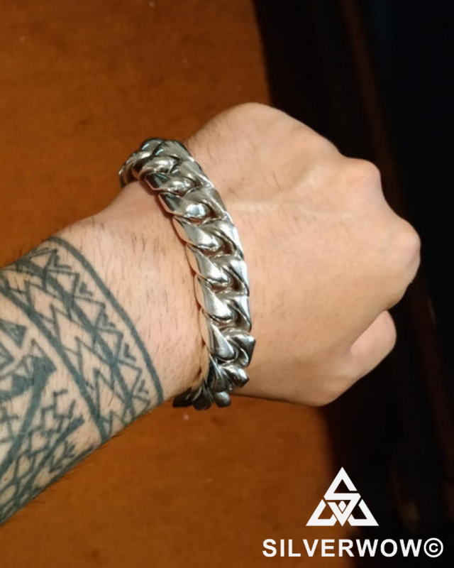 20MM Chunky, Heavy and Unique Cuban Link Bracelet for Men | BY Silverwow