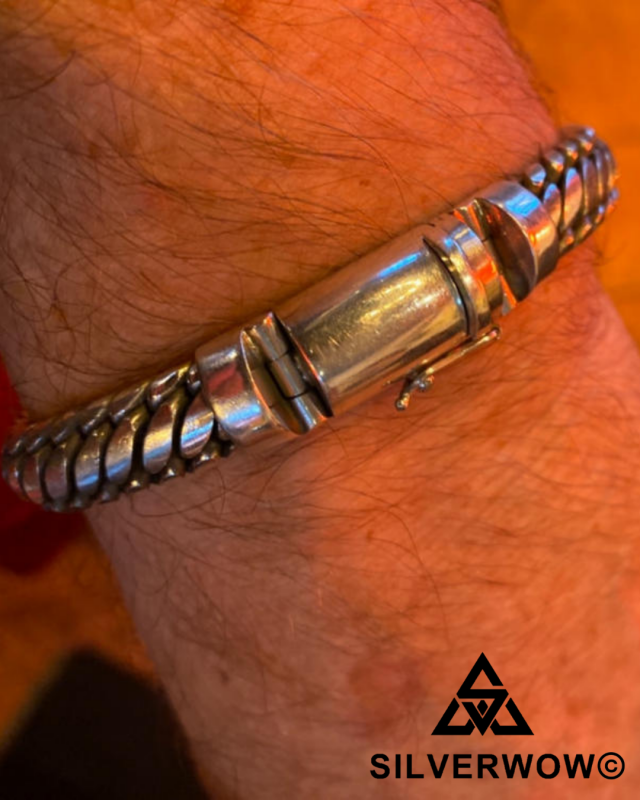 Julian with his unique and Sleek Woven Snake Bracelet | BY Silverwow