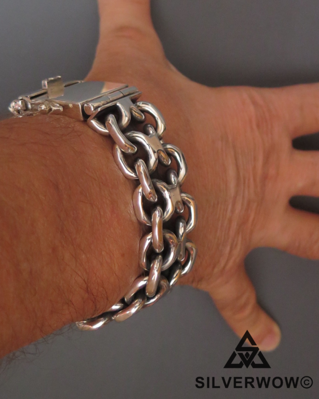 KBB1 Super Chunky and Heavy Bracelet for Men | BY Silverwow
