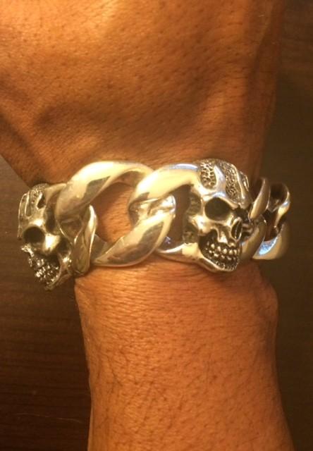 Biker Skull Bracelet KBB24