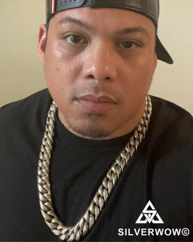 Mike with his 20MM Super Heavy Cuban Chain | BY Silverwow