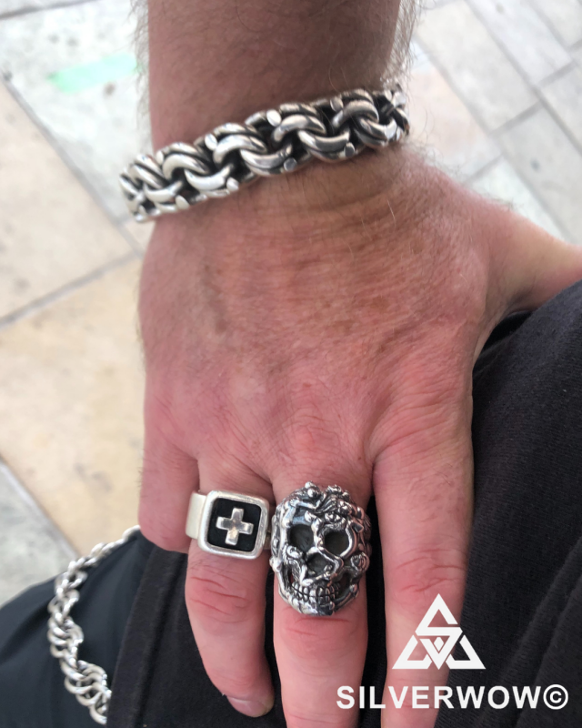 Skull Ring + Mexican Garibaldi Sterling Silver Collection | BY Silverwow