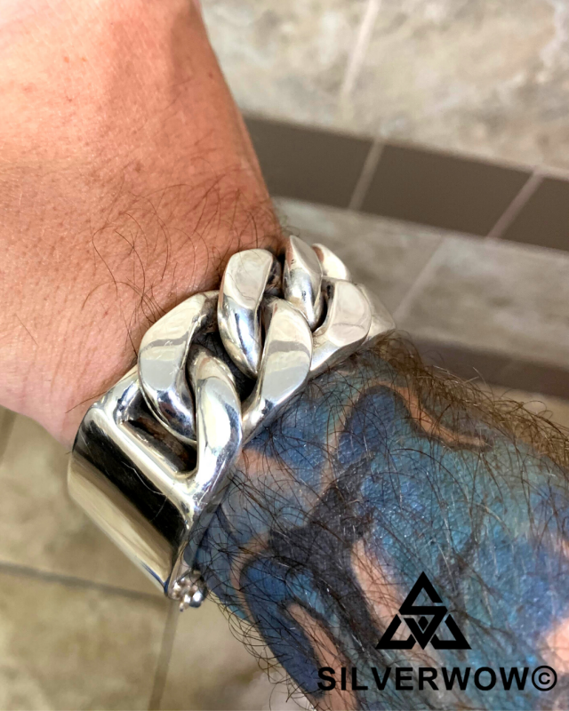 Chunky, Massive and Super Heavy 20MM Identity Bracelet sent in by Nicholas