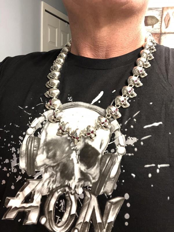 Custom made Skulls Necklace by customer