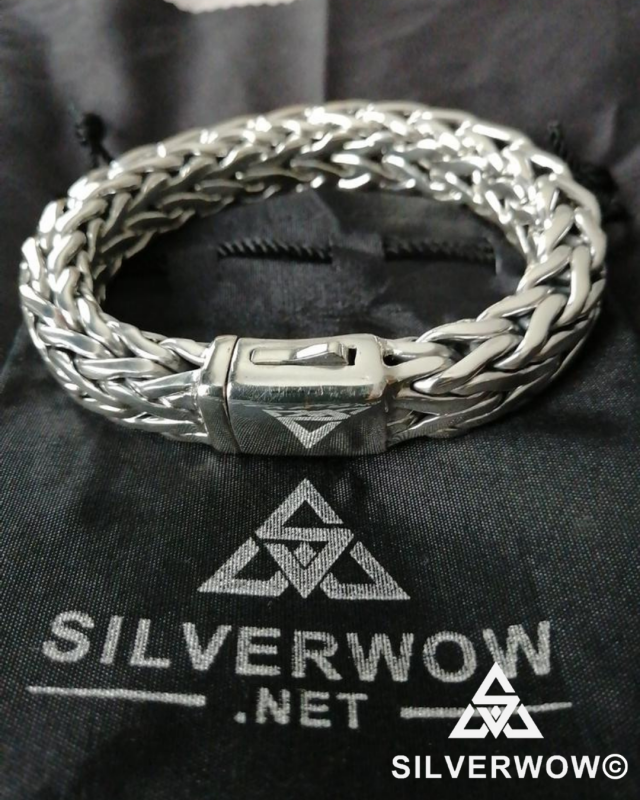 Huge, Super Thick 16mm Wide Rope Weave Bracelet | BY Silverwow