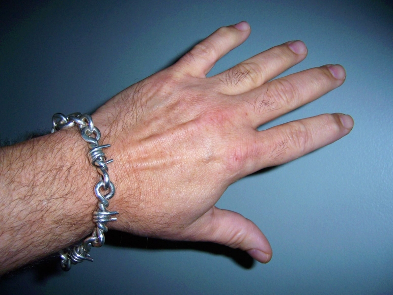 Barb Wire Bangle worn by Chris