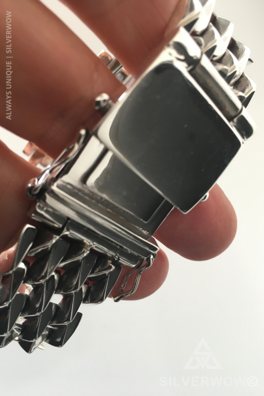 Very Solid Handcrafted Spike Artisan Sterling Silver Bracelet for Men | BY Silverwow