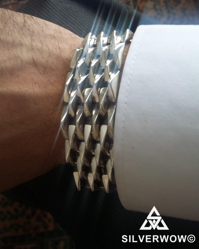 Lak wearing our Heavy, Chunky and Massive Sterling Silver Bracelet for Men | BY Silverwow