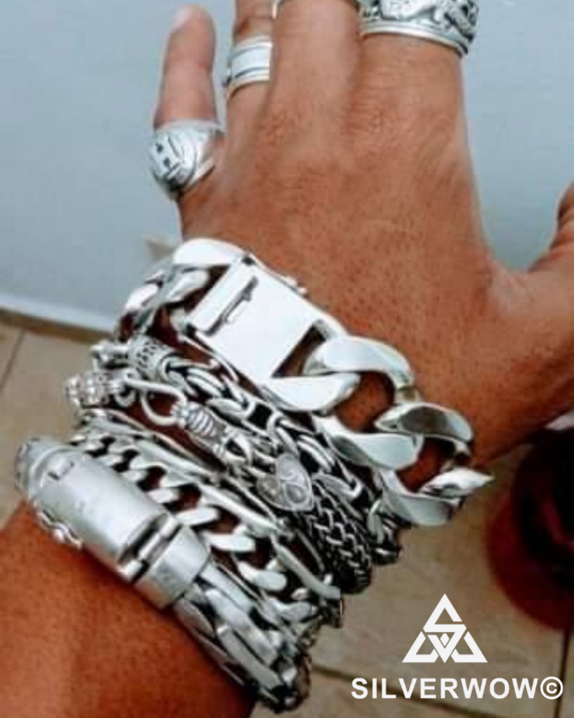 Sterling Silver Collection With Curb | BY Silverwow