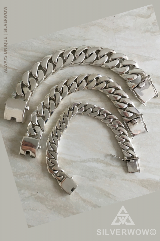Super Chunky and Heavy Truck Curb Bracelet Chains | BY Silverwow