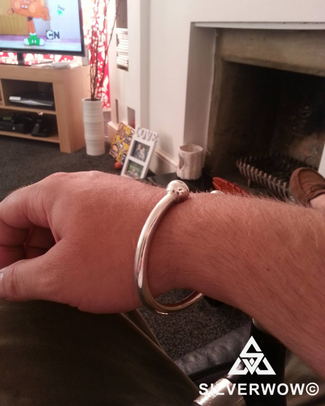 Unusual, Chunky Torque Bangle for Men | BY Silverwow