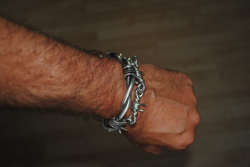 Mens Barb Wire Bracelet