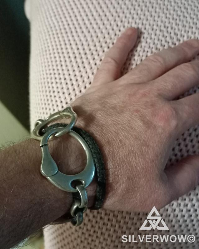 Matt and his super unique Handcuff Bracelet for Men | BY Silverwow