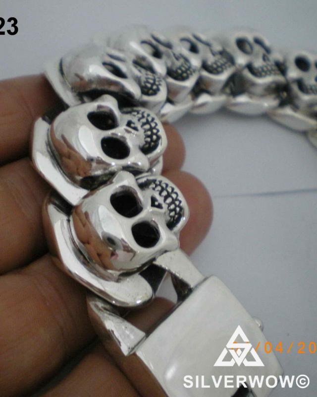 KBB 23 Heavy Skulls Bracelet for Men | BY Silverwow