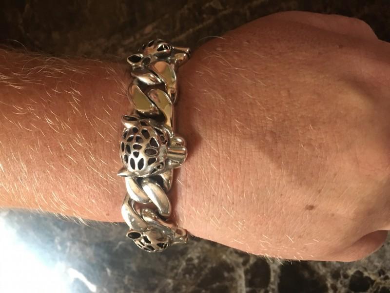 Men's Leopard Head Bracelet