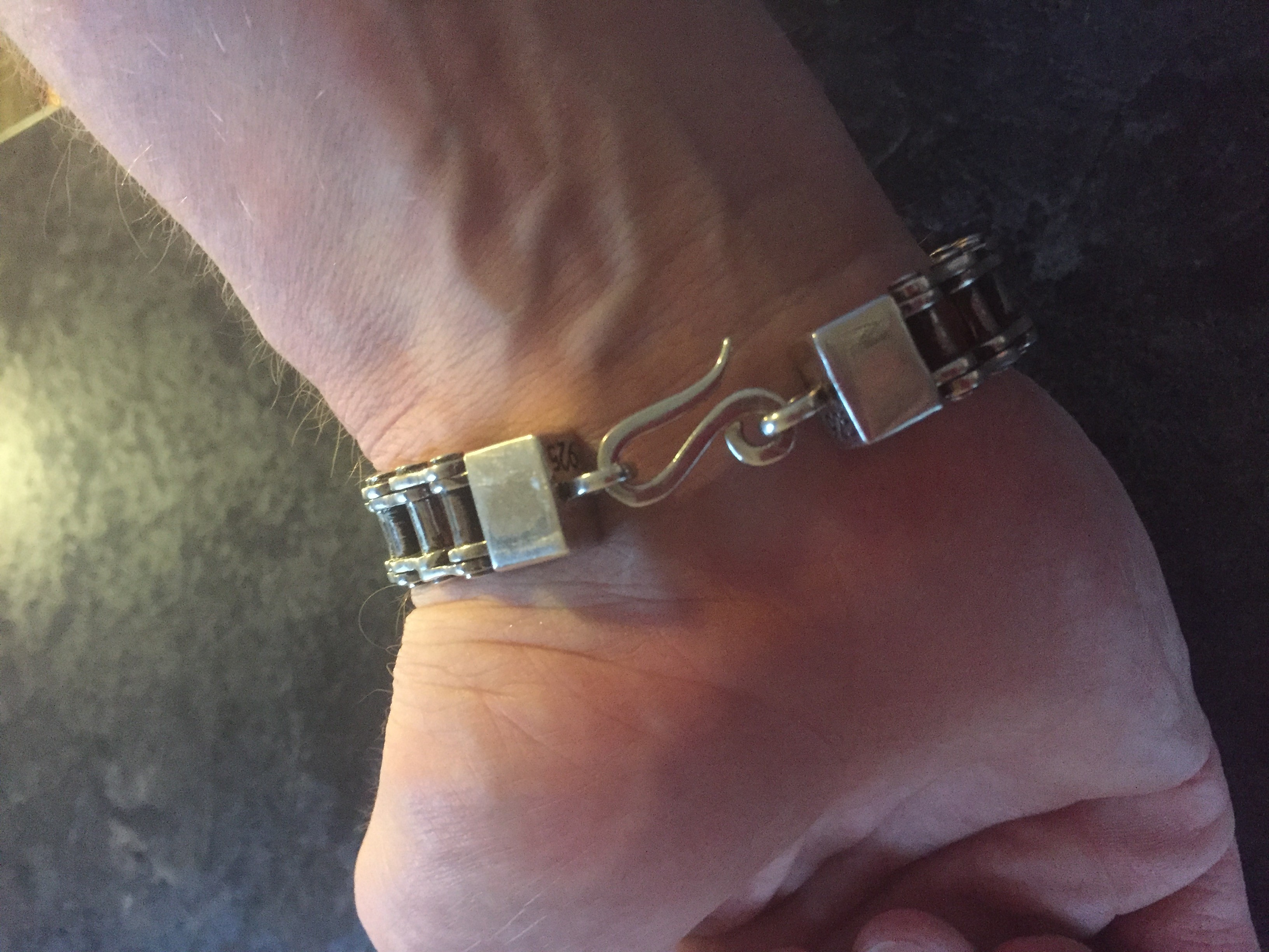 Unique Silver Bike Chain Bracelet