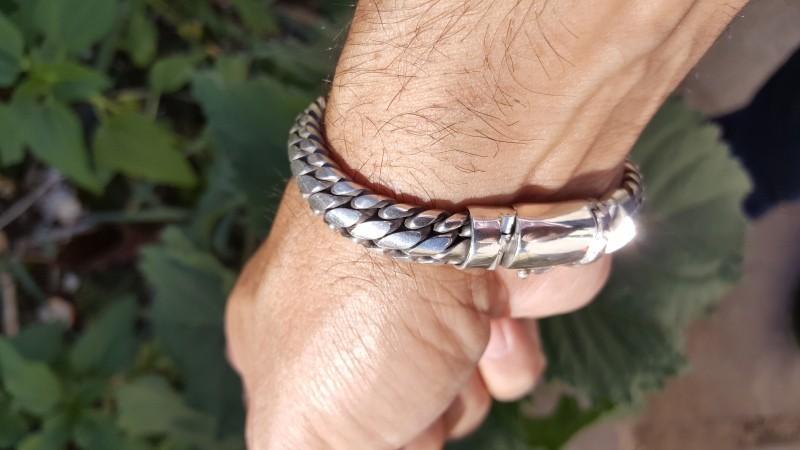 Finely Woven Snake Bracelet - 10MM Men's Design