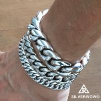 12MM, 15MM and 20MM Cuban Link Bracelets Side by Side | BY Silverwow