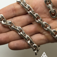 12MM Chain Link Necklace Close Up Snap | BY Silverwow