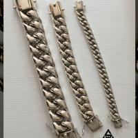 15MM x 20MM x 35MM Cuban Sterling Silver Bracelet for Men | BY Silverwow