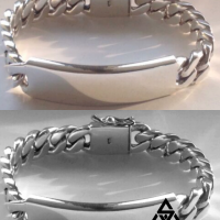 Sleek and Unique 15MM Identity Bracelet for Men | BY Silverwow