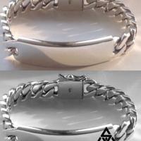 Sleek and Unique 15MM Identity Bracelet for Men | BY Silverwow