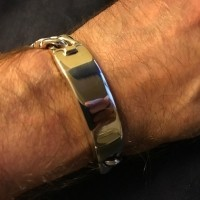 15mm Mens Identity Bracelet Michael