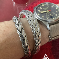 Unusual Tapered Woven Bracelets and Double Rope Weave for Men | BY Silverwow