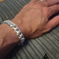 Dave wearing a 15MM Chunky Cuban Link Chain Bracelet for Men | BY Silverwow