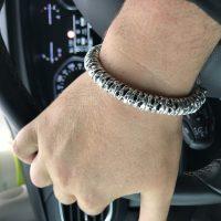 Panther Head Silver Bracelet