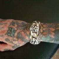 Chunky Biker Skull Bracelet KBB24