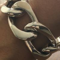 20MM Wide Link Sterling Silver Bracelet for Men | BY Silverwow
