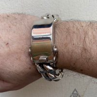 G with his 25MM Super CHunky and Heavy Cuban ID Bracelet for Men | BY Silverwow