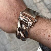 25MM Super Chunky and Heavy Cuban ID Bracelet - Qatar customer G | BY Silverwow