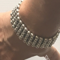 30MM Unique and Chunky Ball Bracelet for Men | BY Silverwow