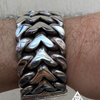 G with his 30MM Herringbone Bracelet for Men | BY Silverwow