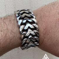 Another snip from G - Herringbone Bracelet | BY Silverwow