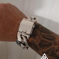 Super Heavy Wide Link Sterling Silver Bracelet for Men | BY Silverwow