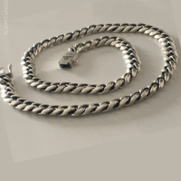 8MM Rounded Cuban Necklace for Men | BY Silverwow