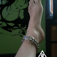 Mexican Garibaldi Sterling Silver Ankle Bracelet by Kyle
