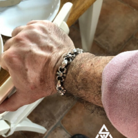 Bad Ass Bone Skull Bracelet worn by a customer from Sweden | BY Silverwow