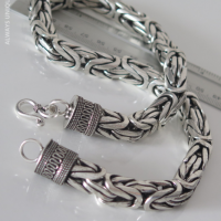 Unique Bali Byzantine Sterling Silver Necklace for Men | BY Silverwow