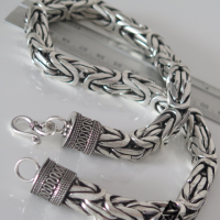 Super Chunky and Unique Bali Byzantine Bracelet for Men | BY Silverwow
