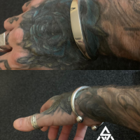Wayne with Silverwow's Unique Chunky ID Bangle for Men | BY Silverwow