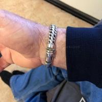 Kylie on his Woven Snake Bracelet 10mm