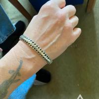 David-Clarke with his 15mm woven snake bracelet