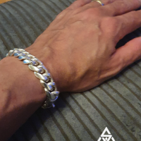 15MM Cuban Link Bracelet worn by Dave | BY Silverwow