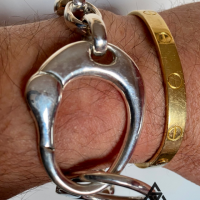 Handcuff Bracelet by Vittorio from Italy | BY Silverwow